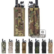 цена на Emerson Tactical MOLLE Universal MBITR PRC 148 152 Radio Pouch Foliage Green Walkie Talkie Pocket with Quick-release Buckle