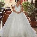 2017 Luxury Ball Gown Sleeveless vestido de noiva robe de mariage louisvuigon abiti da sposa Backless Plus Size Wedding Dress