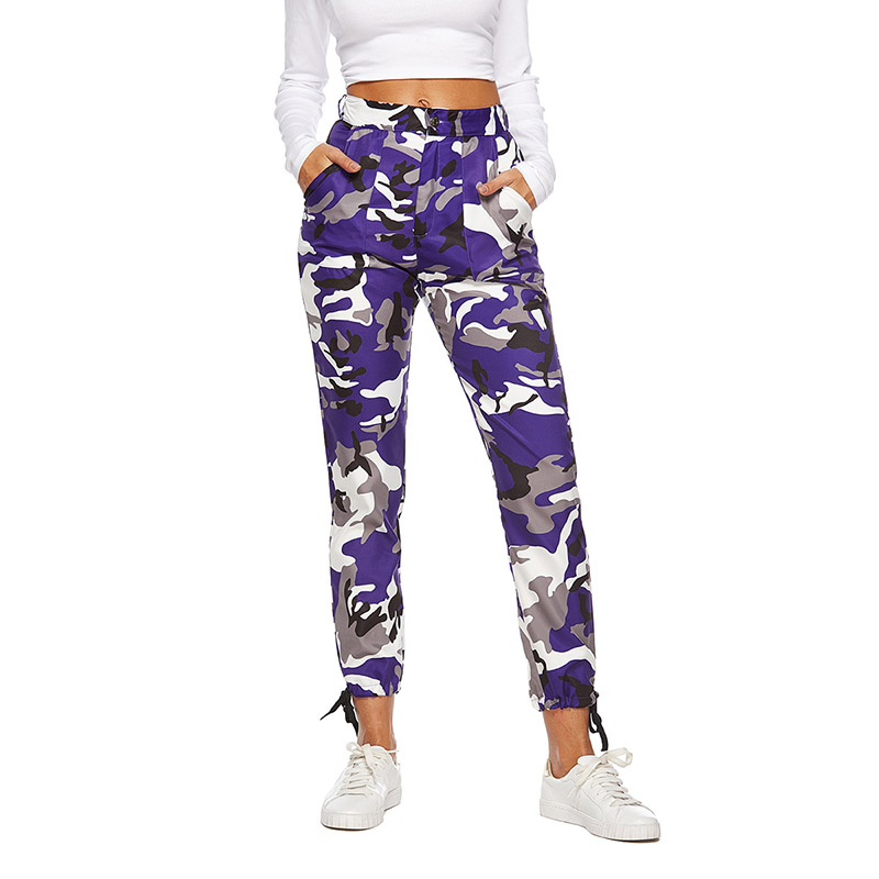 Hot Sale Summer Womens Ladies Camo Trousers Pants Casual -2922