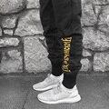 Meias de compressão dos homens calças basculador Alta Qualidade Gosha Rubchinskiy Marca Corredores moletom Homme Pantalon Hip Hop Calça para Homens