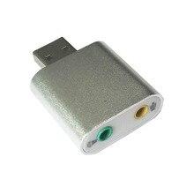 Бесплатная доставка 7.1 канала алюминиевого сплава USB звуковая карта компьютера внешняя звуковая карта USB7.1 ЗВУКОВАЯ карта аналоговый звуковой карты