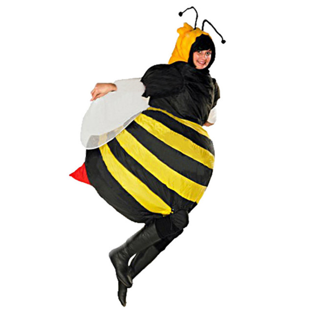 7b283ae0a7fc Inflatable Bumble Bee Costumes for Women Halloween Adult Fancy Dress Outfit  Cosplay Animal Purim Party Blowup Carnival
