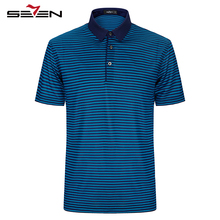 Seven7 Brand 2017 NEW Casual Fashion Polo Shirt Summer latest Men Striped Silk Polo Shirt Short Sleeve Polo Shirts 112T50220