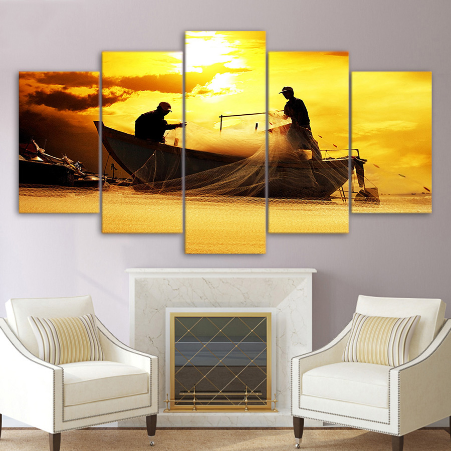 HD Print Canvas Painting Home Decorative Modular Picture Wall Art 5 ...