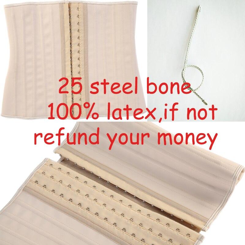 Купить 16 шт 25 стальных костей талии cincher 100% латексный корсет