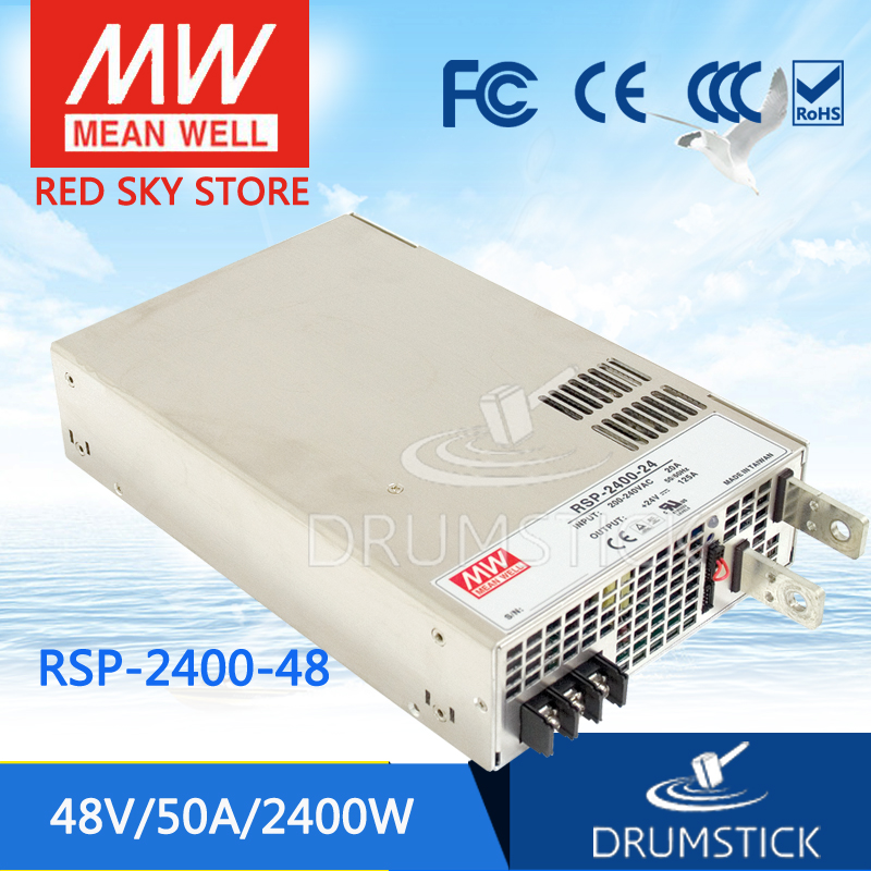 Redsky1 Hot! MEAN WELL original RSP-2400-48 48V 50A meanwell RSP-2400 48V 2400W Single Output Power Supply