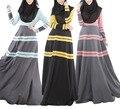 Burbuja de Té Nuevas Mujeres Islámicas Abaya Ropa Musulmán Para Las Mujeres Vestido Colorido Vestido de La Manera Ropa de Mujer Musulmán Hijab Turco