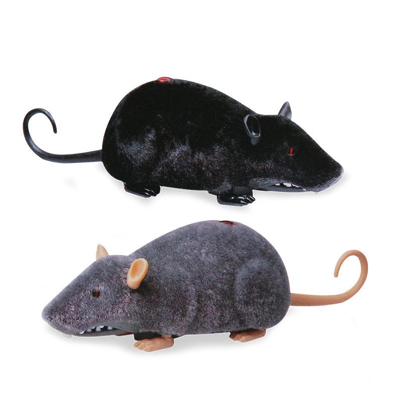 Infrared Wireless Rat Electronic Mouse Remote Control Animal RC Mouse Toy Cat Kitten Playing Toy Children Birthday Gift