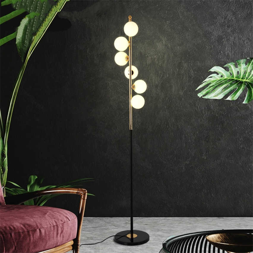 Standing Lights For Living Room Designer Mirrors Rooms Detail Feedback Questions About Modern Light Nordic Led Floor Lamps Bubble Glass Decor Study Bedroom