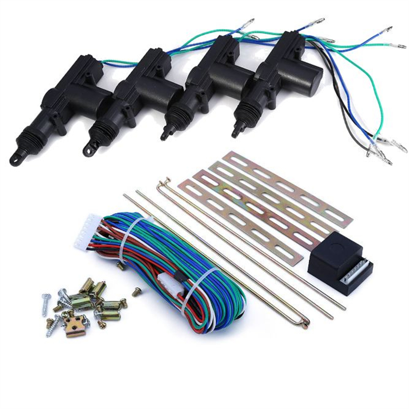 Free Shipping 4 pcs Car Doors Lock Actuator Auto Locking System Universal Car Power Central Locking System wholesale price