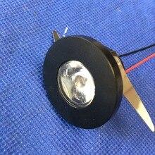 5pcs/lot black LED Mini Cabinet Downlight 1.5W diameter 31mm  dc12V Frame Recessed Ceiling No Flicker Spot Lights For Home
