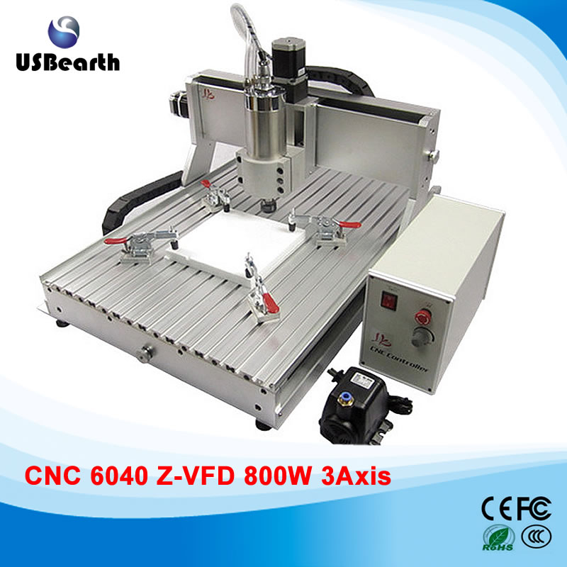800W CNC Router 6040 Metal engraving machine for metal wood 800w cnc wood carving machine 6040z s800 woodworking cnc router with ball screw upgraded from cnc 6040 metal pcb cnc machine