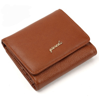 Wallet Female Genuine Leather Women Wallets Luxury Brand Card Holder Female Coin Purses Organizer Small Wallets