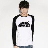 בריטי מוסיקה בנד ארקטיק מאנקיז שלל בגדי גברים חולצה הדפסת Raglan שרוול הארוך מגניב רחוב Tshirts טי חולצה פינק פלויד