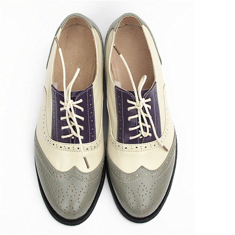 Women Genuine cow leather brogues oxford shoes sneakers vintage quality british flats shoes for women shoes 2018 Phenkang Women Genuine cow leather brogues oxford shoes sneakers vintage quality british flats shoes for women shoes 2018 Phenkang