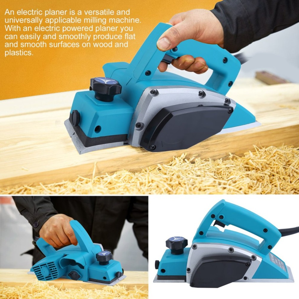 Household Multifunctional Portable Woodworking Planer DIY Electric Wood Planer Power Tool Cutting Depth 0-2 mm NEW free shipping domestic woodworking high power electric tool portable electric planer