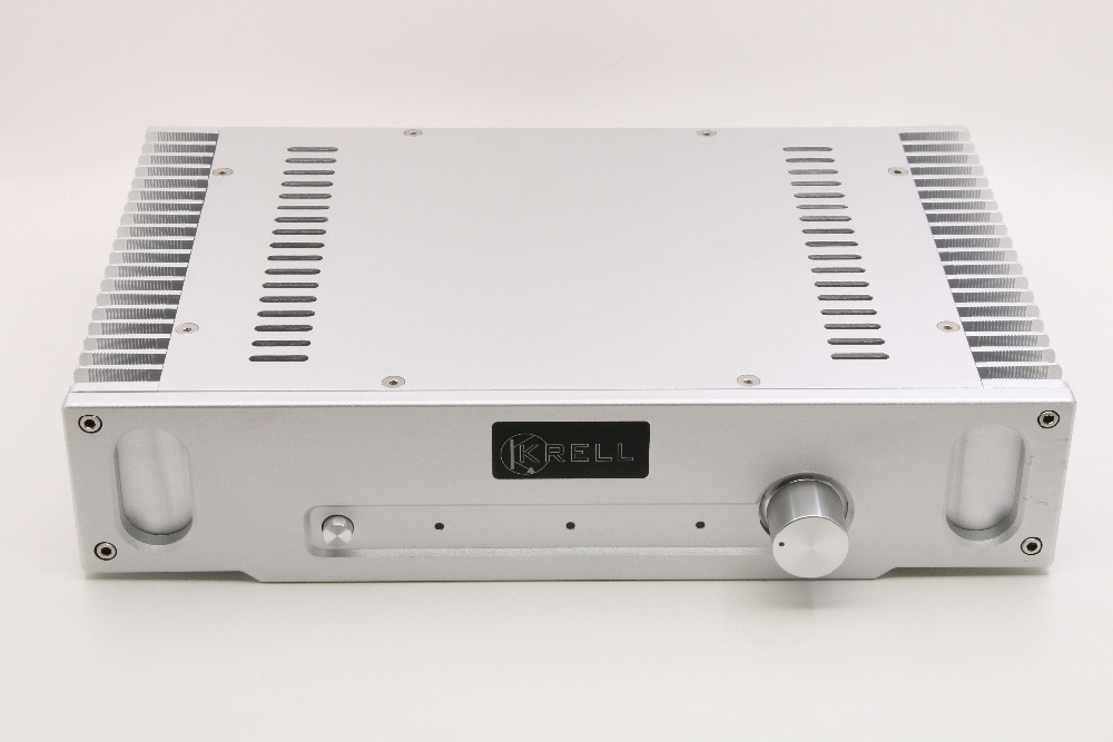 Серебряный All-Алюминий Мощность усилитель/шасси класс усилителя корпус/DIY HiFi Case Box для 1969 Мощность amp