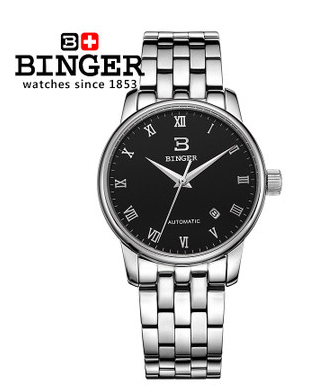 Big Discount Brand New 2017 Luxury Mens Automatic Watch Original Binger Mechanical Watches Golf Sport Men Wristwatch Hotsale binger genuine gold automatic mechanical watches female form women dress fashion casual brand luxury wristwatch original box