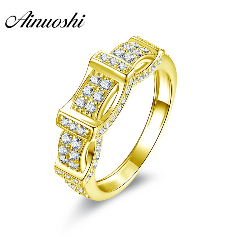 AINUOSHI Luxury Men Band 10K Solid Yellow Gold Ring Rows Drill Cluster Ring Trendy Wedding Engagement Gold Jewelry 4.5g Men Ring цена и фото