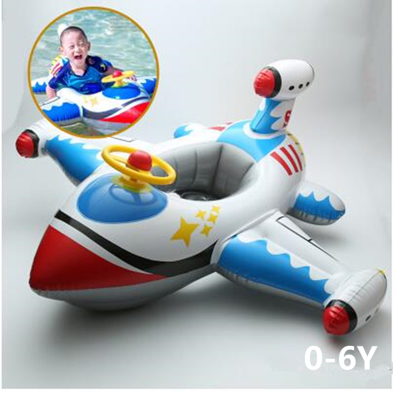 Swimming Pool And Accessories Baby Seat Float  Child Boy Girl Seat Float Circle 0-1-3-6 Years Old