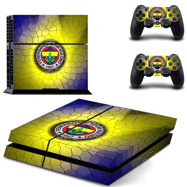פנרבחצ ה Spor Kulubu כדורגל PS4 עור מדבקת מדבקות ויניל עבור Sony פלייסטיישן 4 קונסולת 2 בקרי PS4 מדבקת עור