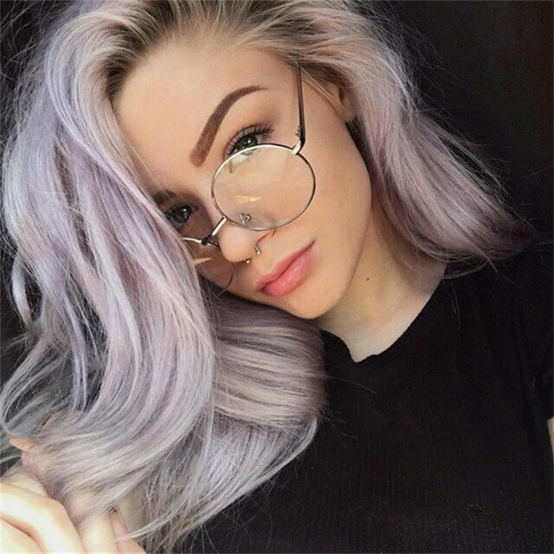 Vintage Round clear Glasses women transparent Glasses ...