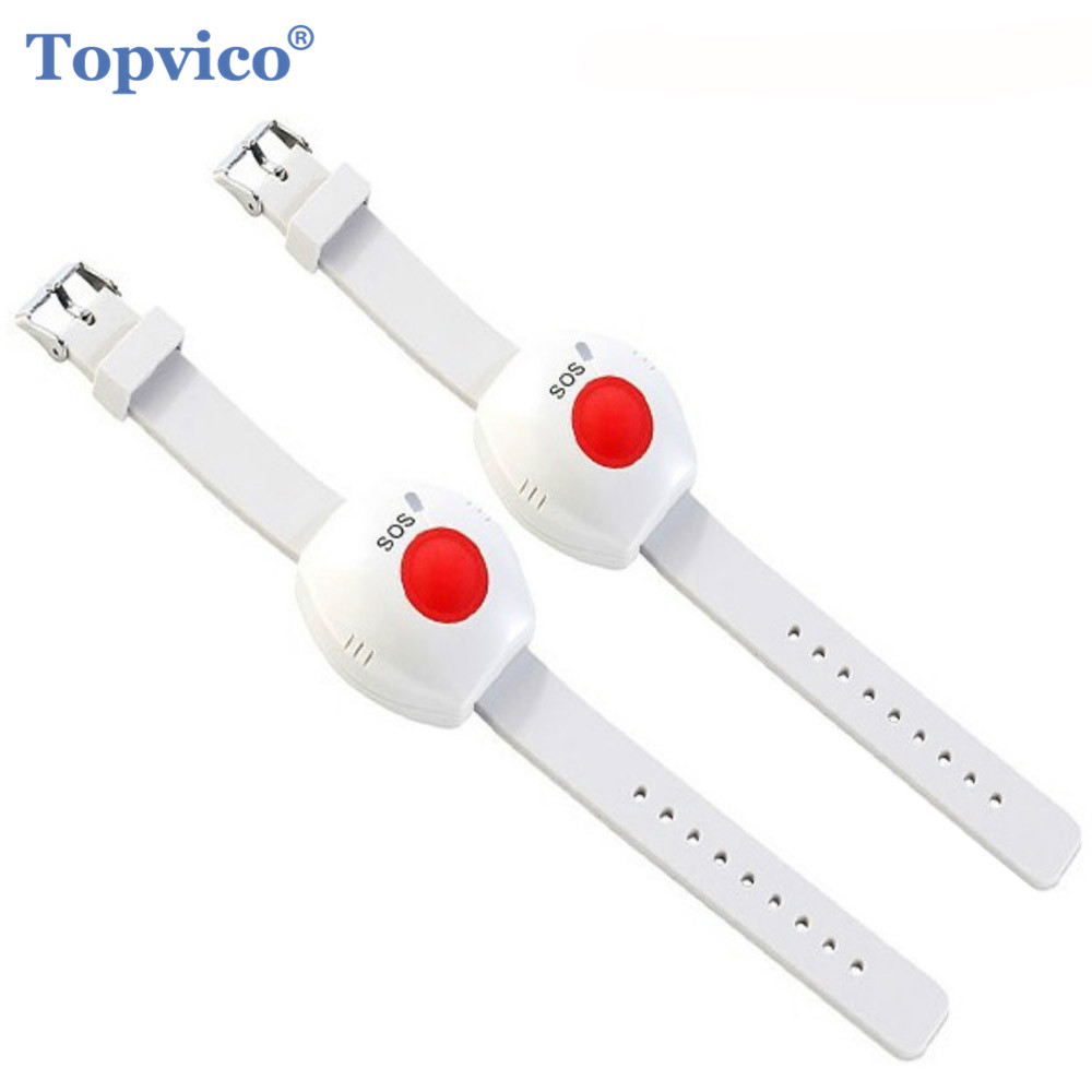 Topvico Bracelet Alarm-System Panic-Button Elderly-Alarm Old-People SOS 433mhz Home-Security title=
