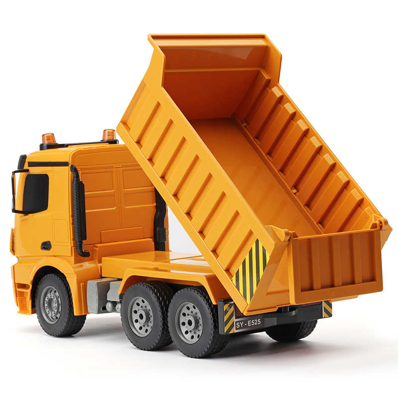 1:16 RC Dump Truck 2.4G 4WD Truk RC RC Tipping Dump Truk Mercedes Teknik Remote Control Model Mobil Mainan untuk Anak-anak