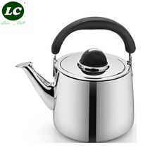FREE SHIPPING whistling stainless steel #304 kettle thickening water pot kettle 3/4/5/6 LITRE