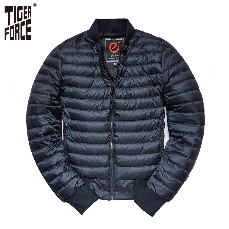 TIGER FORCE Man Jacket Men Bomber Jacket Spring Fashion Baseball Jacket Black Blue Puffy Jacket Light Parka chaquetas hombre