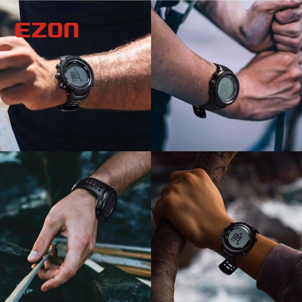 Мужские Цифровые часы LED NORTHEDGE мужские часы водонепроницаемые часы спортивные военные часы relogio masculino спортивные светодиодные наручные часы - 5