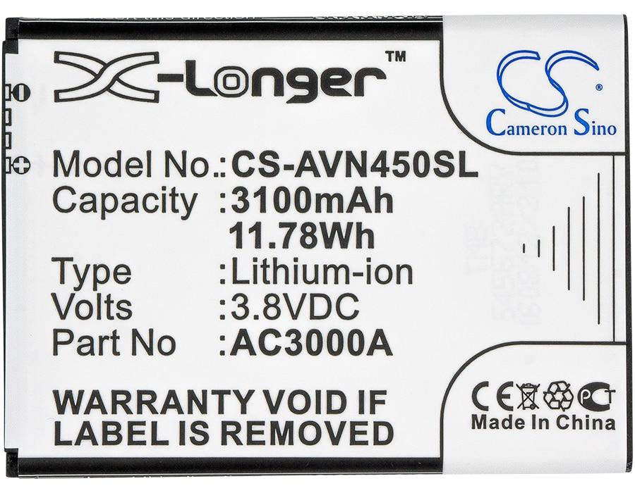 Cameron Sino 3100 mAh batterie AC3000A, AC3000B pour Archos 45 NeonCameron Sino 3100 mAh batterie AC3000A, AC3000B pour Archos 45 Neon