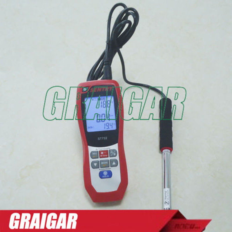 ZYL-YL Portable Infrared Thermometer Hot Wire Anemometer ST732