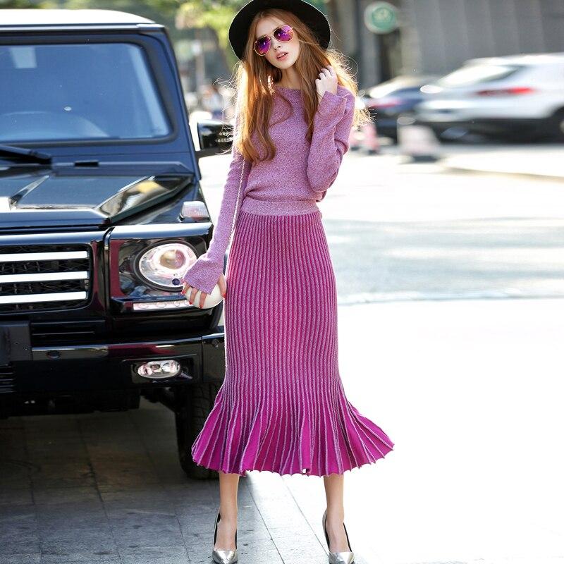 Стильный костюм с плиссированной юбкой | Aliexpress