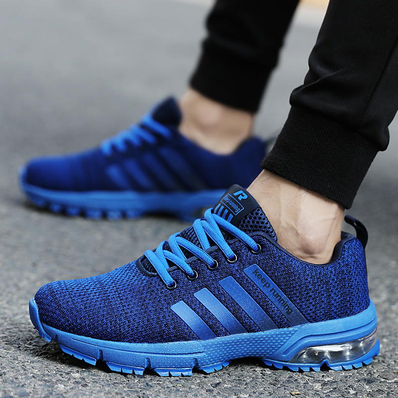 Image 5 - Cork New Men Shoes Casual White Sneakers Mens Trainers Air Cushion Men Tenis Masculino Adulto  Sneakers Leisure Blue Shoes Men-in Men's Casual Shoes from Shoes