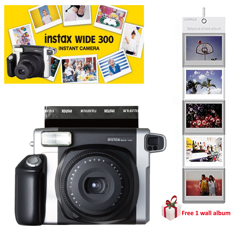 100 Authentic FuJI Fujifilm Instax WIDE 300 Instant Pictures Photo Film Camera Black Free Gift Wall
