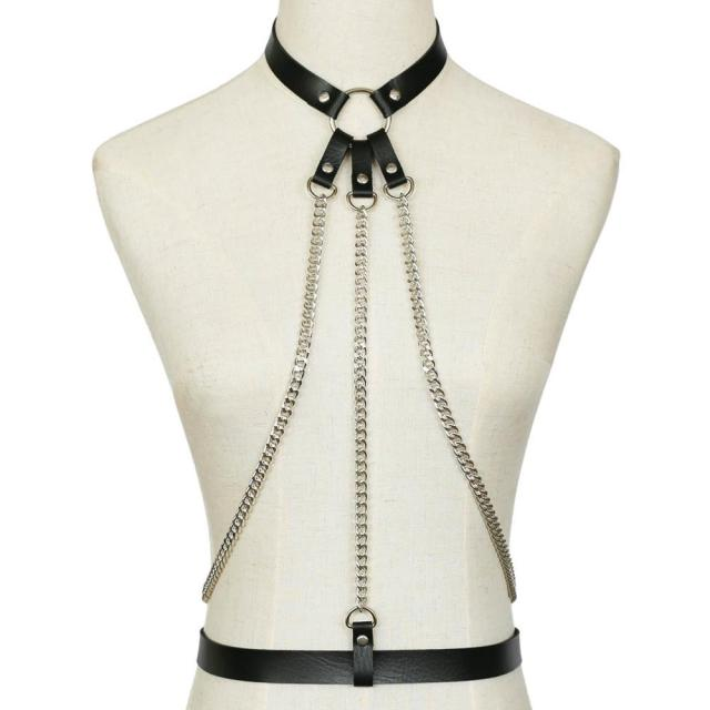 Bondage Chain Harness Pu...