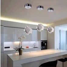 Современное освещение круговое кольцо кристалл светодио дный LED ресторан спальня люстра приспособление гостиная блеск светодио дный светодиодный свет кристалл освещение подвесной светильник