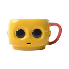 The New Creative Ceramic Cup Cute Cartoon Style Aliens Large Eyes Lovely Mark Cup Home Gift Giving Mug Coffee Tea Cup 450ml/1pcs(China)