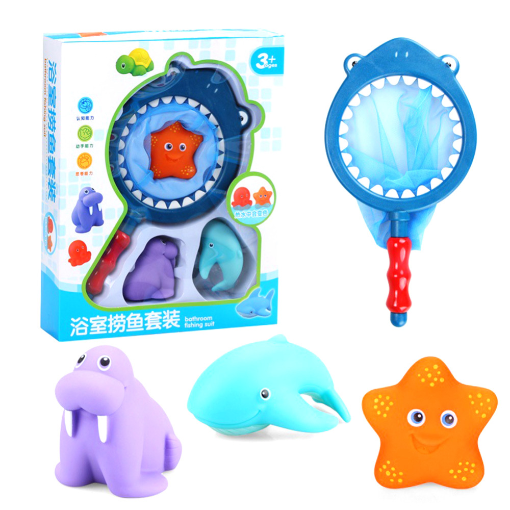Lovely Mixed Animals Swimming Water Toys Colorful Soft Rubber ...