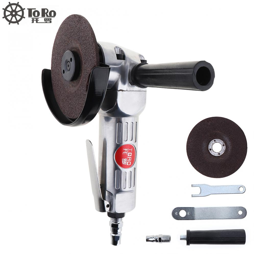 Sale 4 Inch High-speed Pneumatic Angle Grinder with Disc Polished Piece and PVC Handle for Machine Polished / Cutting Operation цена