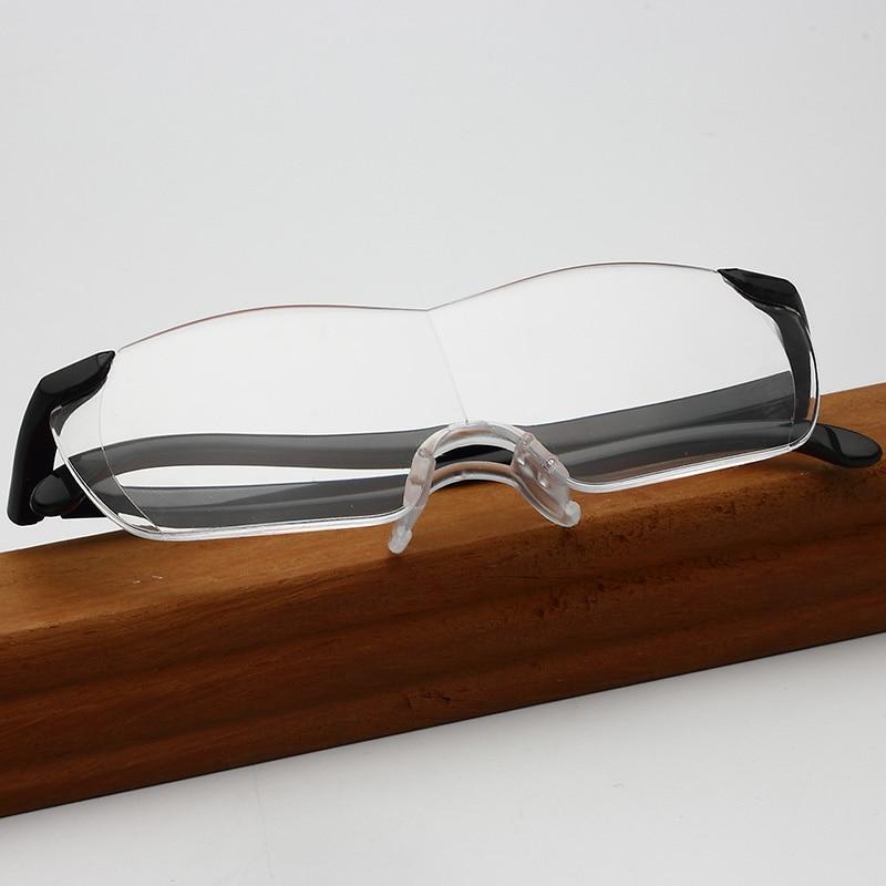 Leče očal za branje očala J N Ultra-qing TV povečajo 1,6-kratna 250-stopinjska modna kombinirana očala za presbiopijo YX + 250