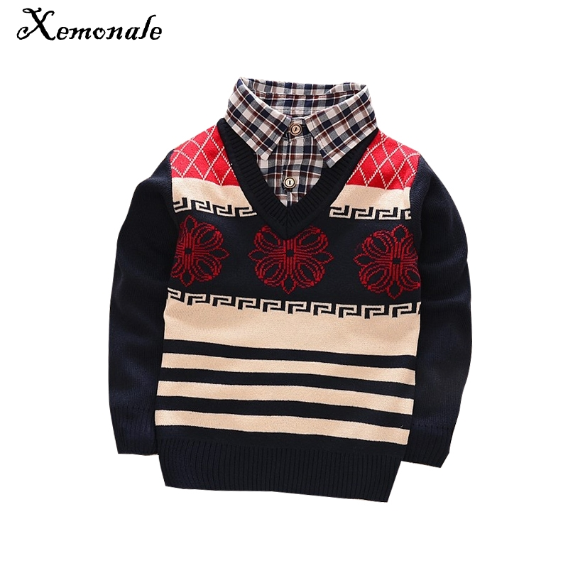 Xemonale new faul Two Pcs fashion baby autumn winter sweater clothes baby boys/girls cardigan sweater coat Children's sweater