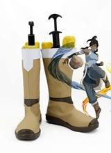 Avatar The Legend of Korra Cosplay Shoes Boots For Hallowen Christmas Women Men