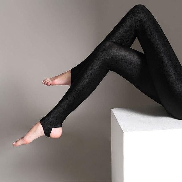 3ef55238fcfee S 3XL Size Women Shiny Black Legging Autumn Ladies Push Up Slim Leggings  High Waist Stretchy Soft Large Size Women Legging Y077-in Leggings from  Women's ...