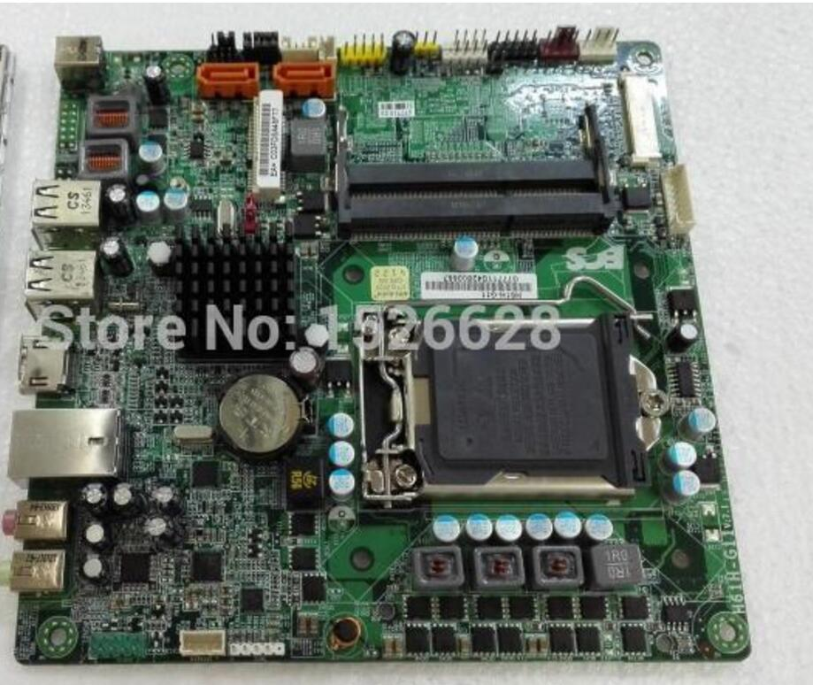 ECS H61H-G11 original motherboard Socket LGA 1155 DDR3 for i3 cpu Mini-ITX Desktop Motherboard H61 Free shipping motherboard lga 1366 cpu bga soldering socket with tin balls