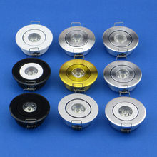 110V 220V Golden Black Silver White Mini Ceiling LED Spot Light Lamp 1W 3W Mini LED Downlight Reccessed 52mm Hole 45mm(China)