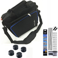 Sistema ps4 juego cubierta de la bolsa del almacenaje del recorrido del hombro carry case bolsa bolso para el controlador ps4 consola playstation 4 + a prueba de polvo kit