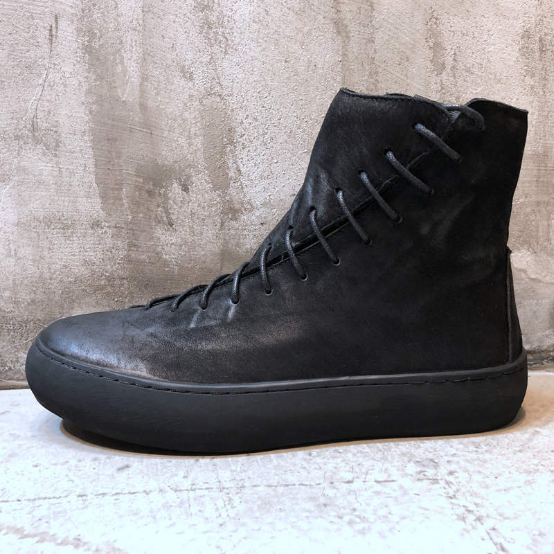 High Riding round men leather boots British winter Korean Retro Black or men shoes warm Riding boots breathable fashion boots
