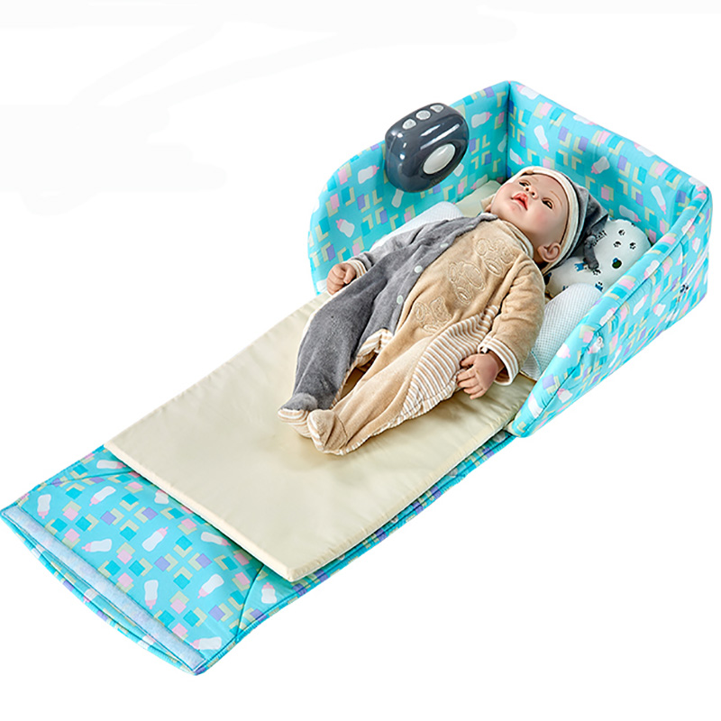 Portable Baby Bed Beige